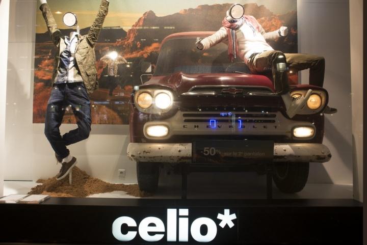 """celio旗舰店""""On the Road""""主题橱窗设计"""