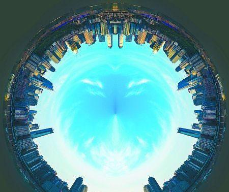 重庆360度全景展示,同样城市不同的效果 - 全景动态